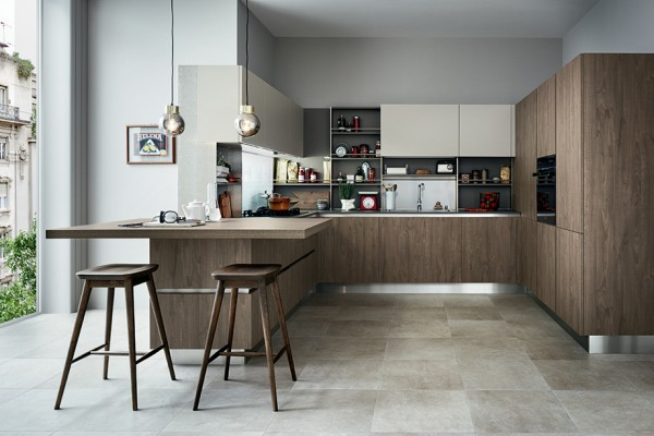 The evolution of a design concept. Ethica Decorativo- the latest evolution of one of Veneta Cucine's most successful models. A fresh look based on today's new focus on the excellent quality o