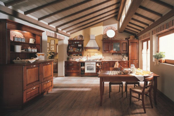 Traditional forms of inspiration. The classic kitchen as a setting for reviving traditions. A style conjured up from things of the past now felt with renewed passion, buildings where the boundaries b